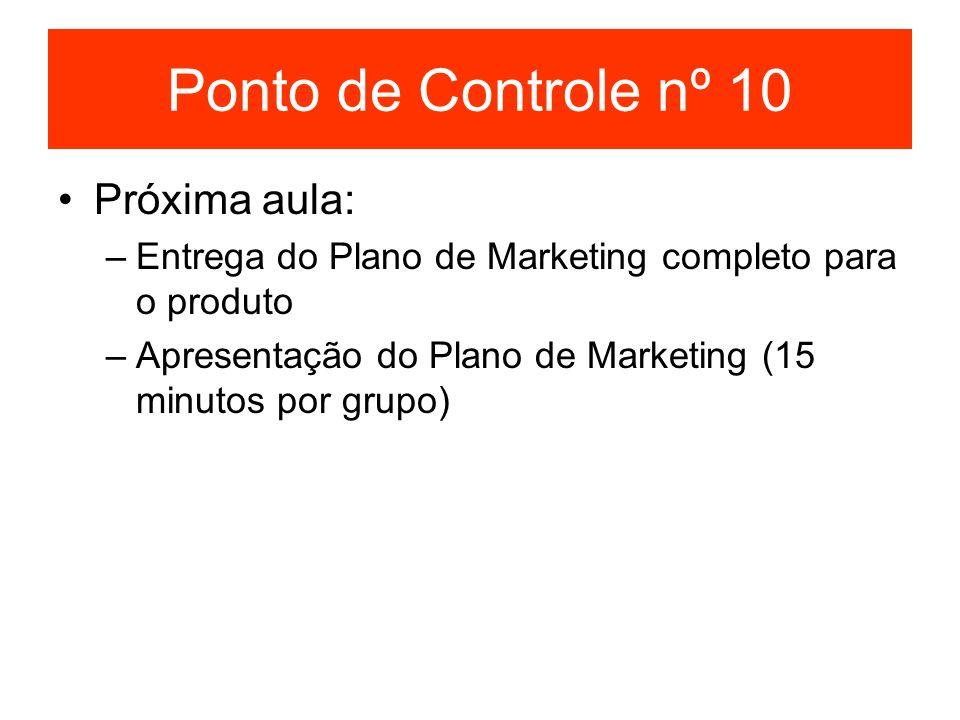 Ponto de Controle nº 10 Próxima aula: