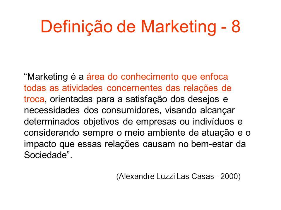 Definição de Marketing - 8