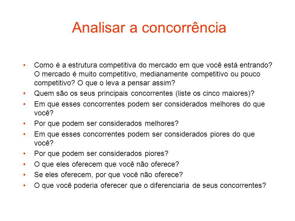 Analisar a concorrência