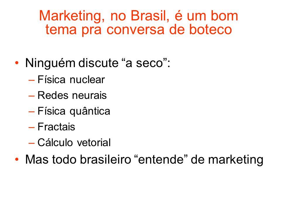 Marketing, no Brasil, é um bom tema pra conversa de boteco
