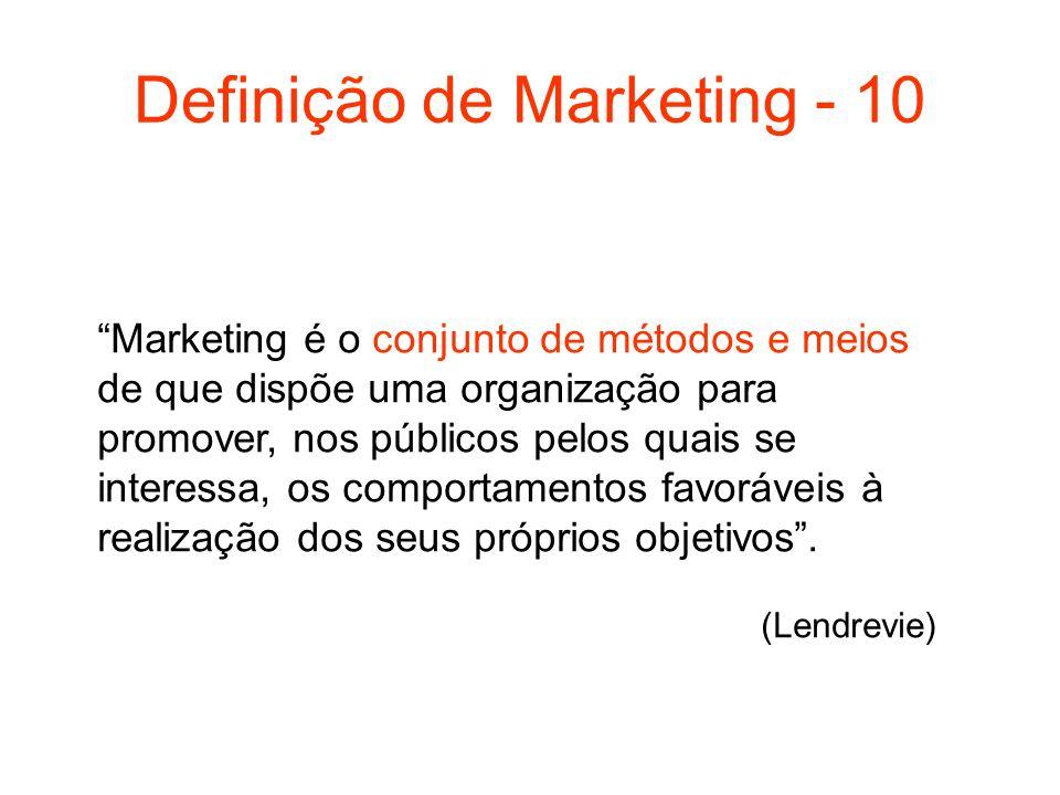 Definição de Marketing - 10