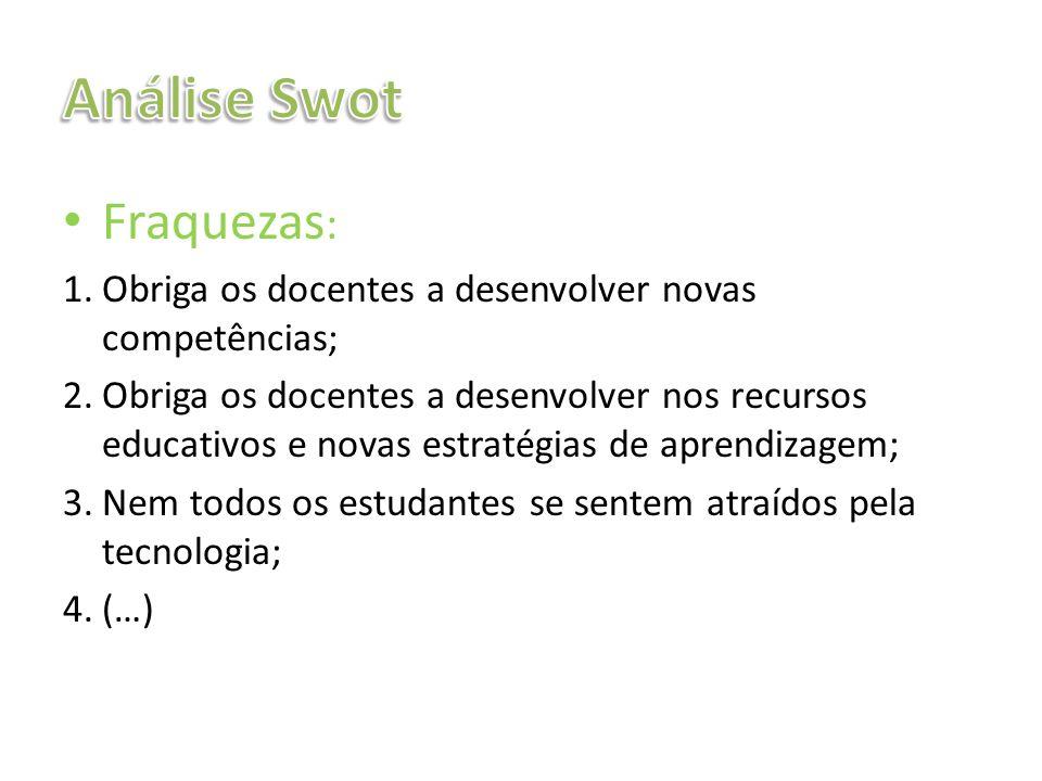 Análise Swot Fraquezas: