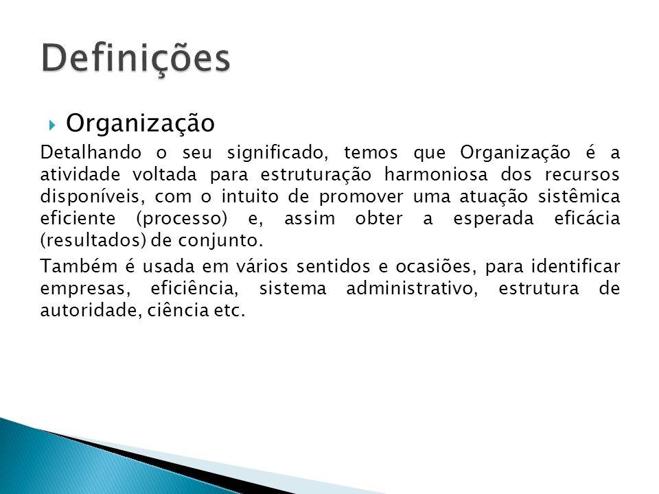 Definições Organização