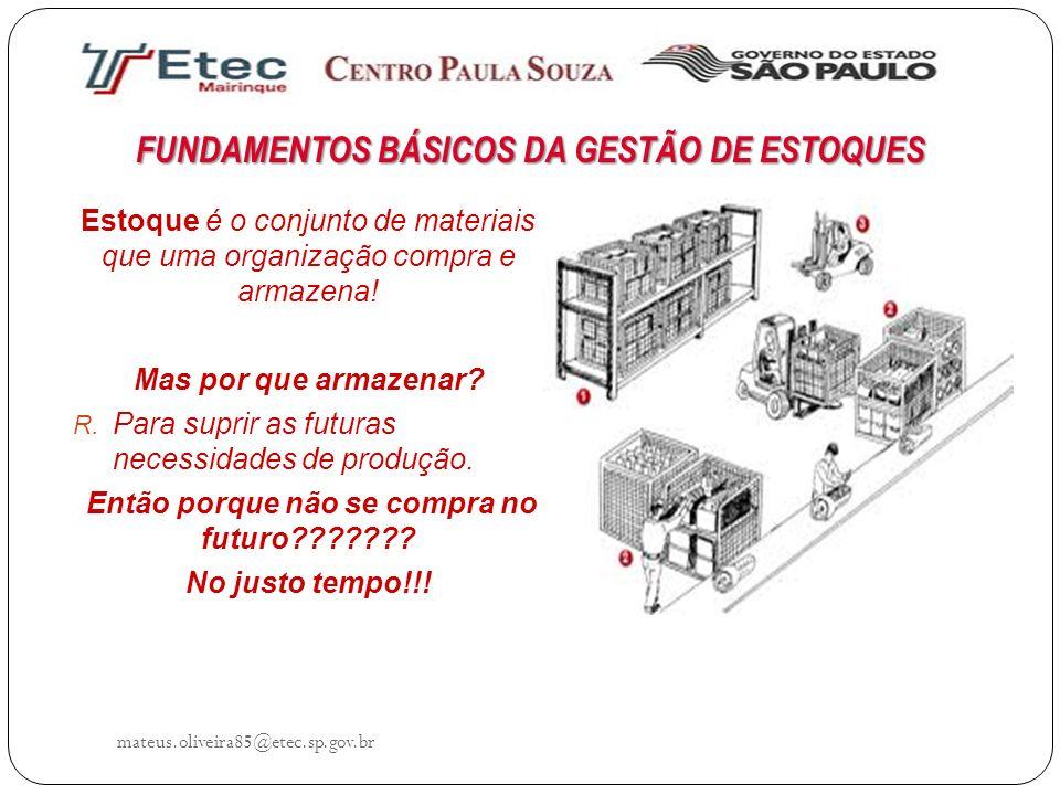 FUNDAMENTOS BÁSICOS DA GESTÃO DE ESTOQUES