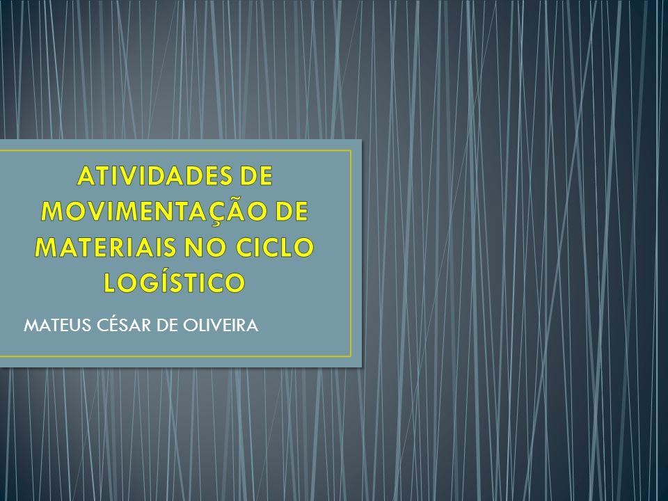 ATIVIDADES DE MOVIMENTAÇÃO DE MATERIAIS NO CICLO LOGÍSTICO