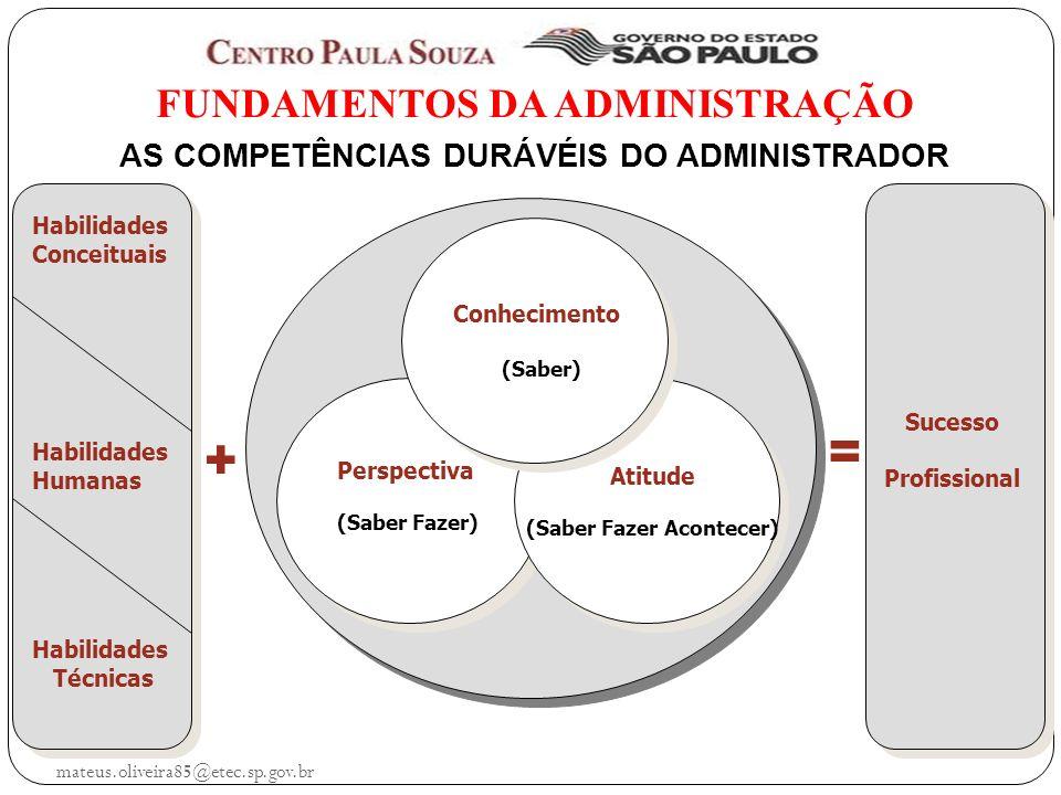 FUNDAMENTOS DA ADMINISTRAÇÃO AS COMPETÊNCIAS DURÁVÉIS DO ADMINISTRADOR