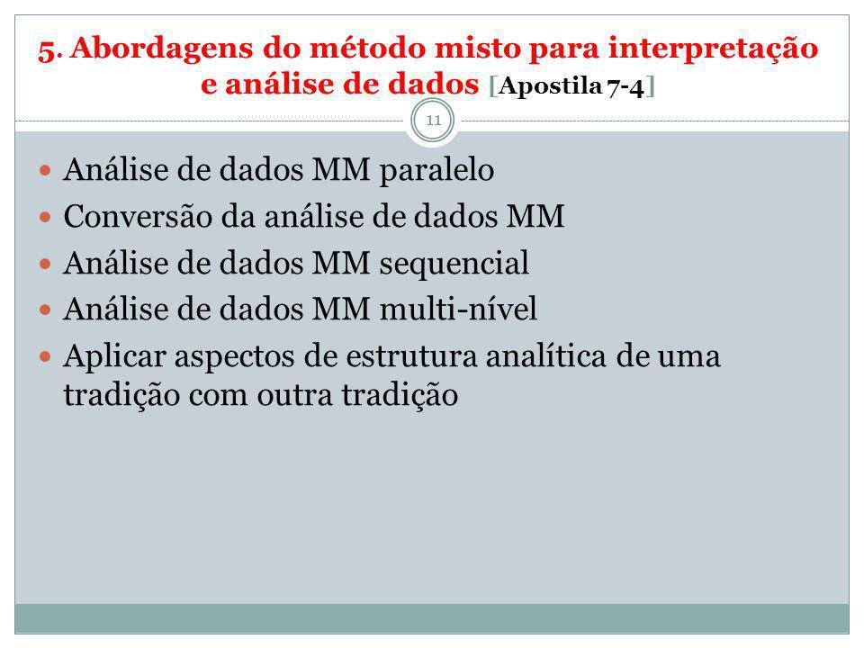 Análise de dados MM paralelo Conversão da análise de dados MM
