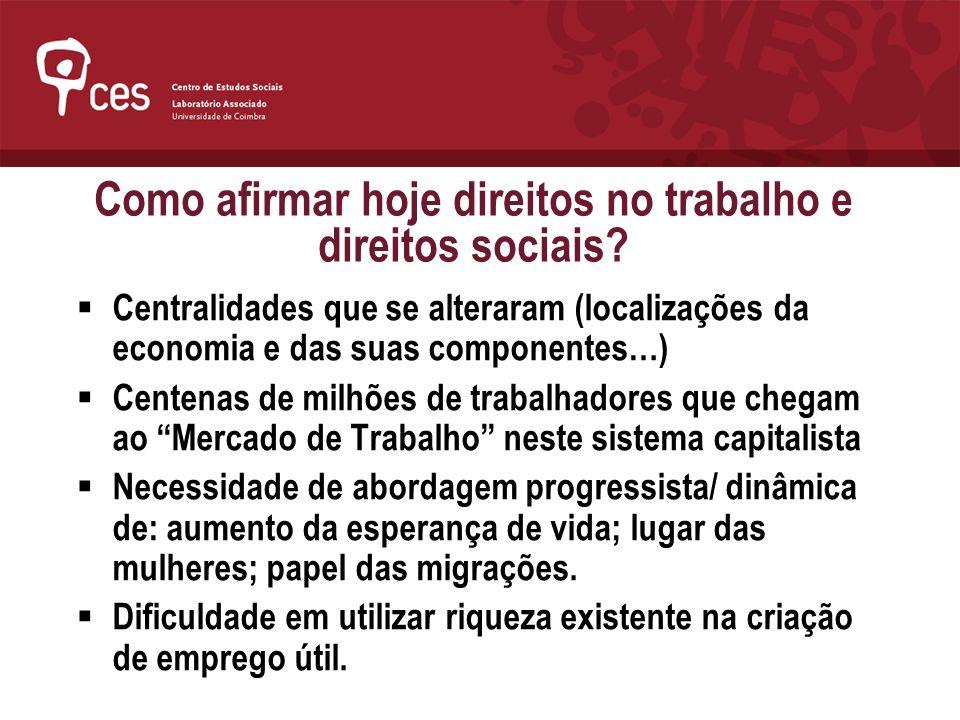 Como afirmar hoje direitos no trabalho e direitos sociais