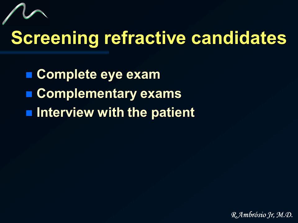 Screening refractive candidates