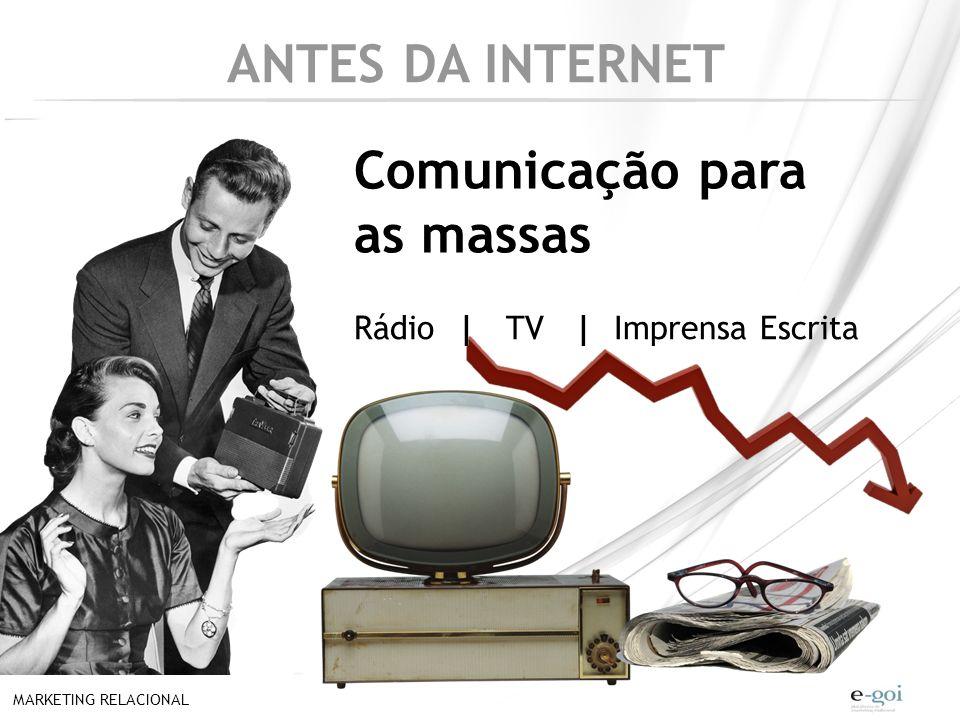 ANTES DA INTERNET Comunicação para as massas