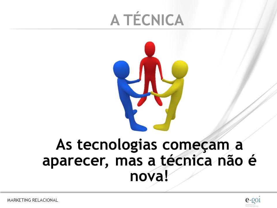 As tecnologias começam a aparecer, mas a técnica não é nova!