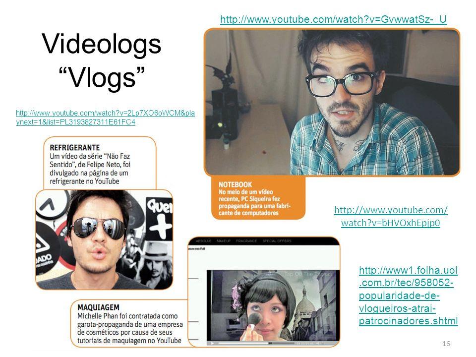 Videologs Vlogs http://www.youtube.com/watch v=GvwwatSz-_U