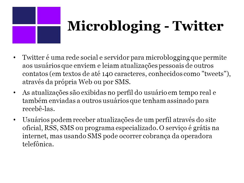 Microbloging - Twitter
