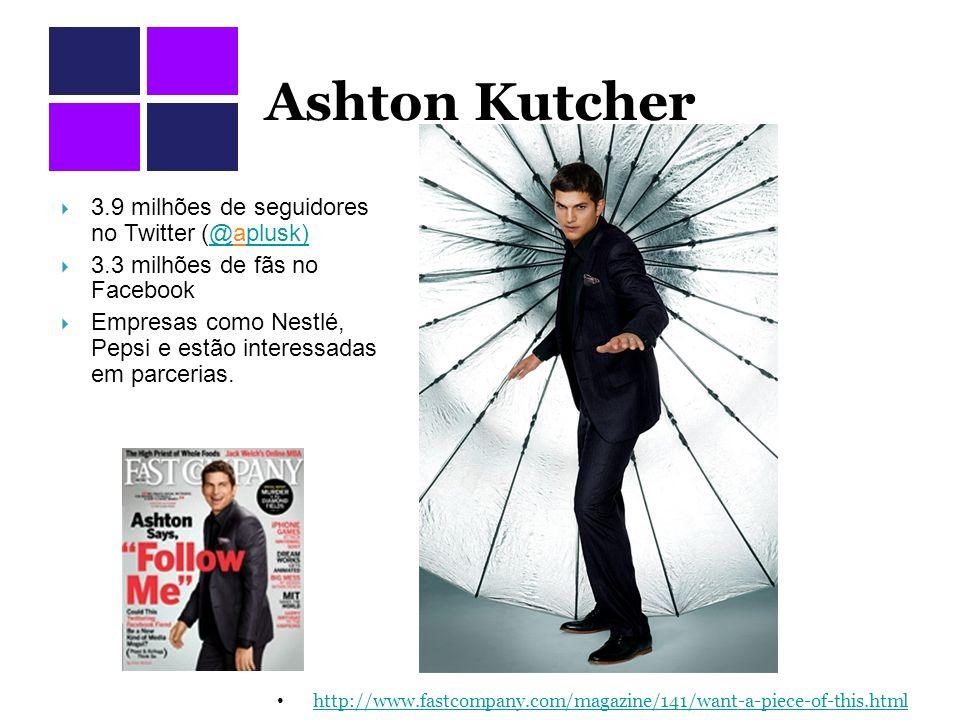 Ashton Kutcher 3.9 milhões de seguidores no Twitter (@aplusk)