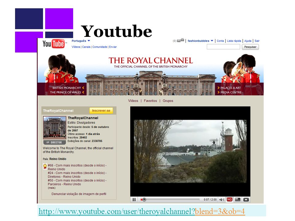 Youtube http://www.youtube.com/user/theroyalchannel blend=3&ob=4