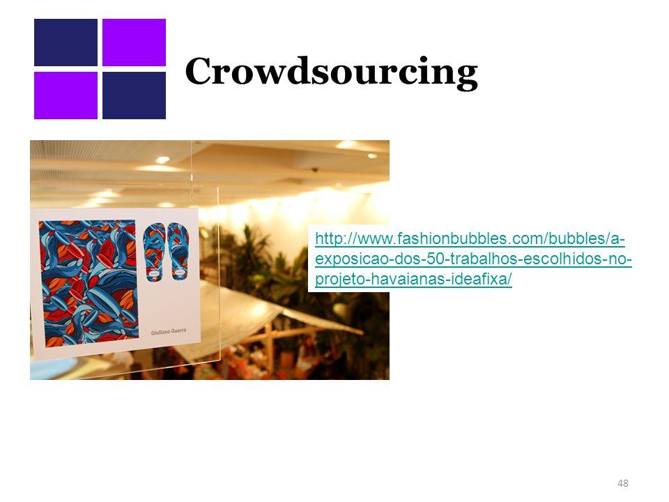 Crowdsourcing http://www.fashionbubbles.com/bubbles/a-exposicao-dos-50-trabalhos-escolhidos-no-projeto-havaianas-ideafixa/