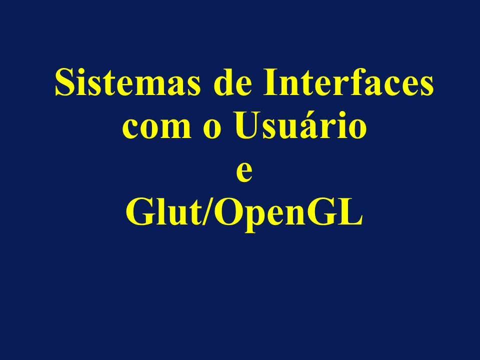 Sistemas de Interfaces com o Usuário e Glut/OpenGL