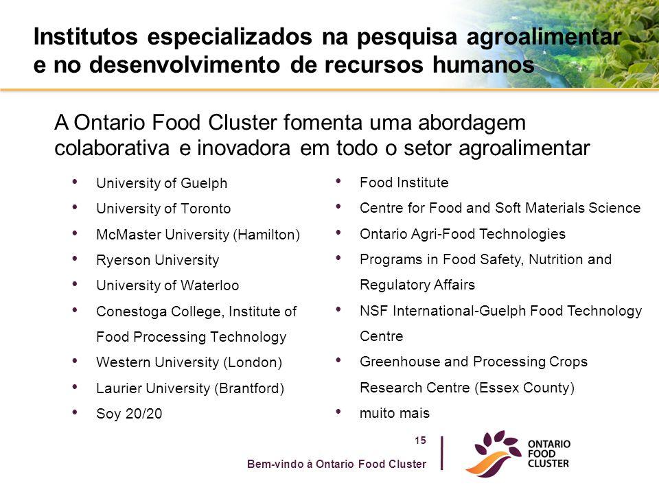Institutos especializados na pesquisa agroalimentar e no desenvolvimento de recursos humanos