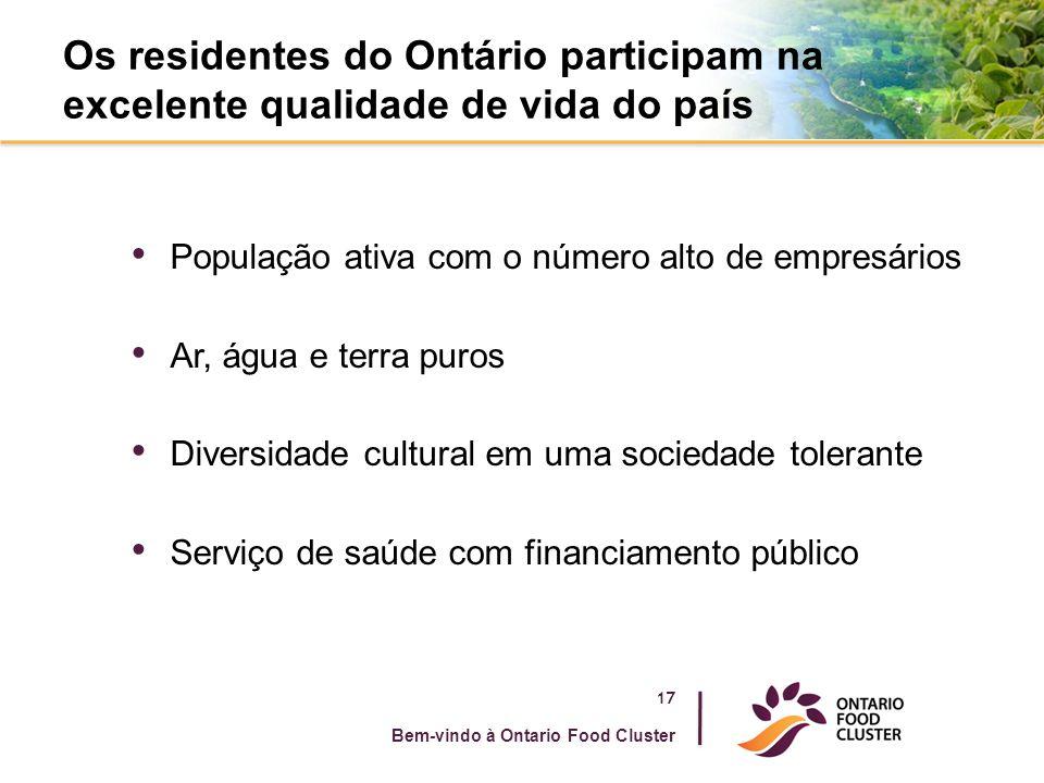 Os residentes do Ontário participam na excelente qualidade de vida do país