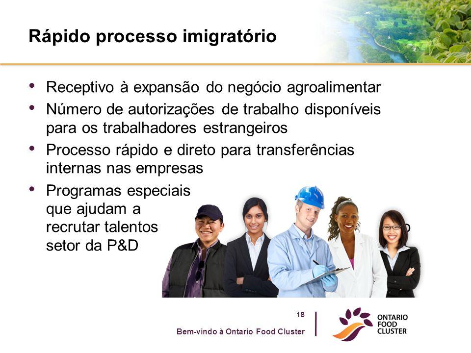 Rápido processo imigratório