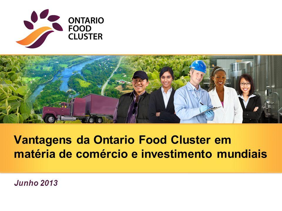 Vantagens da Ontario Food Cluster em matéria de comércio e investimento mundiais