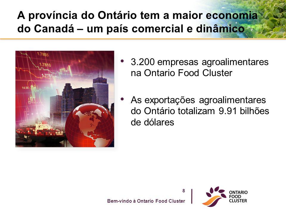 A província do Ontário tem a maior economia do Canadá – um país comercial e dinâmico