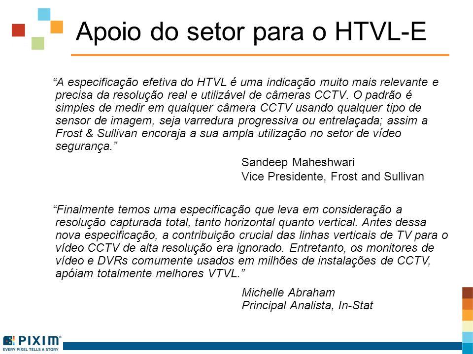 Apoio do setor para o HTVL-E