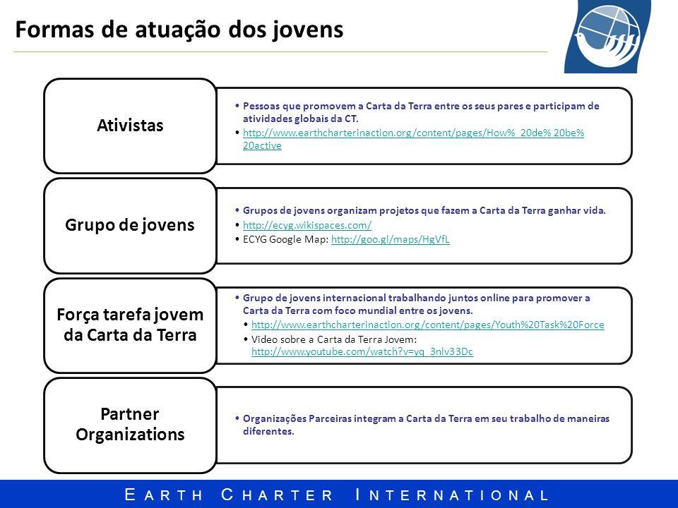 Força tarefa jovem da Carta da Terra Partner Organizations