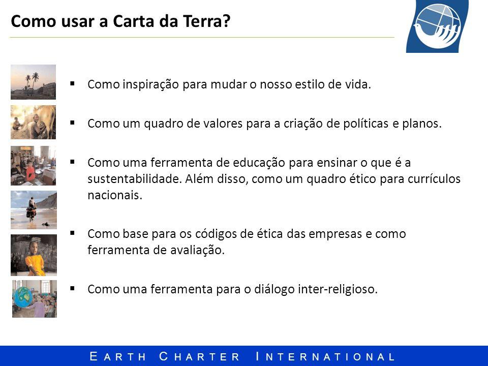 Como usar a Carta da Terra