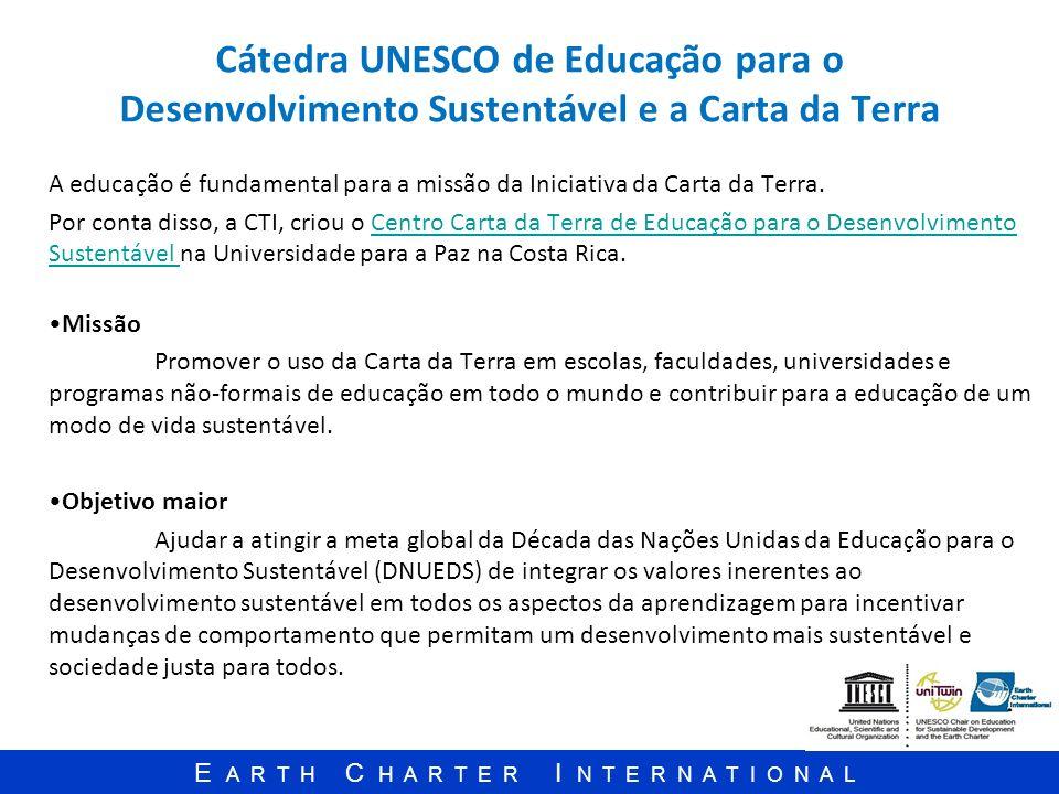 Cátedra UNESCO de Educação para o Desenvolvimento Sustentável e a Carta da Terra