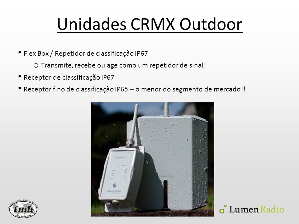 Unidades CRMX Outdoor Flex Box / Repetidor de classificação IP67