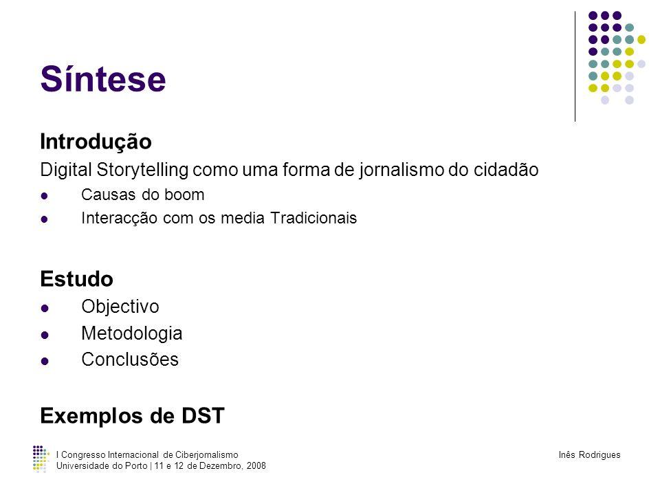 Síntese Introdução Estudo Exemplos de DST