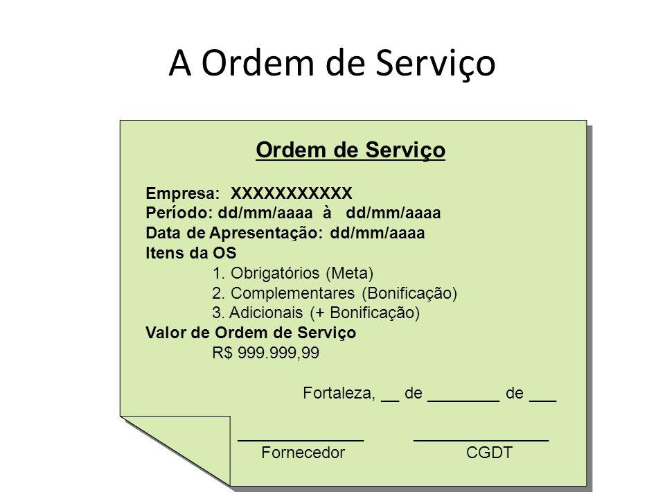 A Ordem de Serviço Ordem de Serviço Empresa: XXXXXXXXXXX