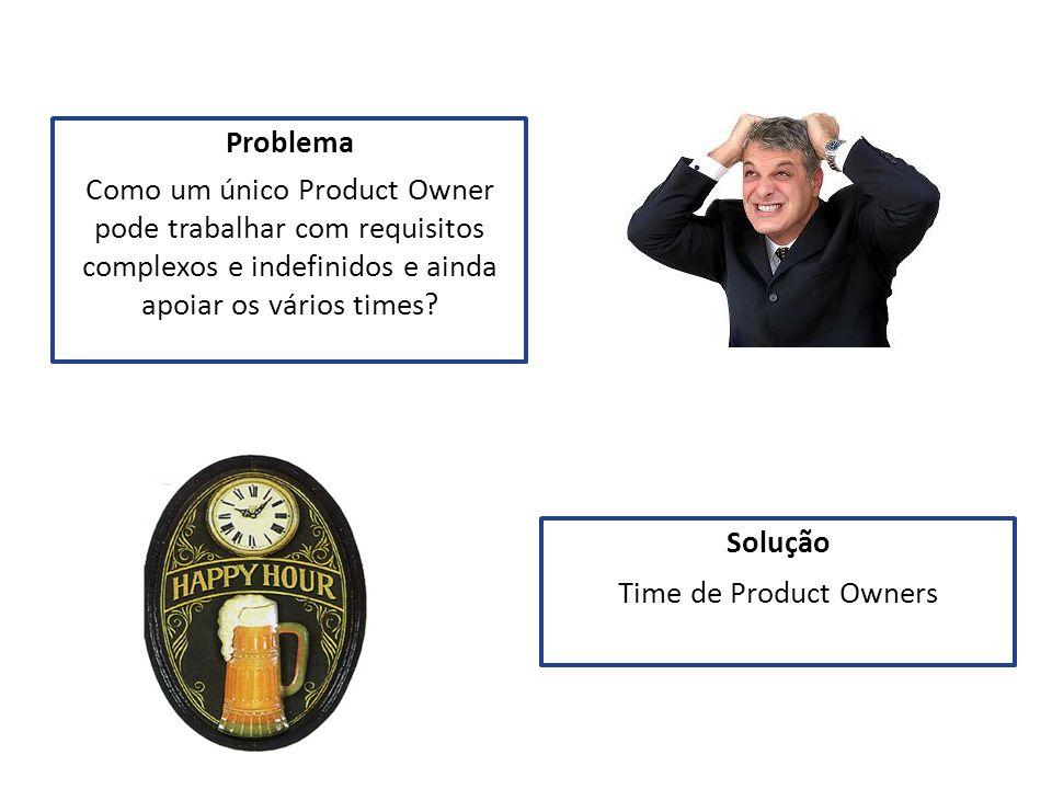 Problema Como um único Product Owner pode trabalhar com requisitos complexos e indefinidos e ainda apoiar os vários times