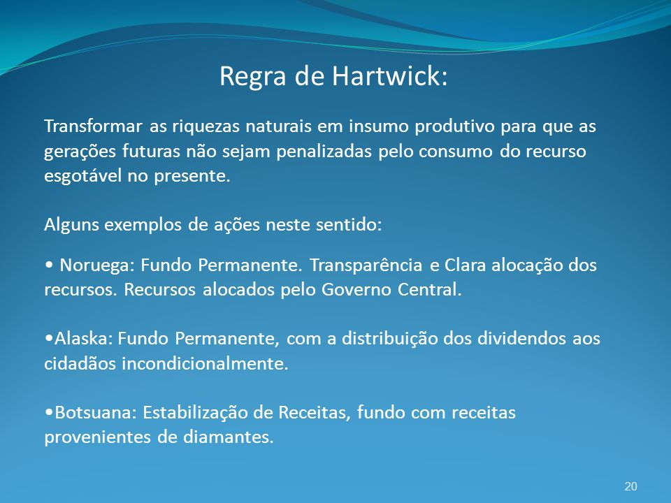 Regra de Hartwick: