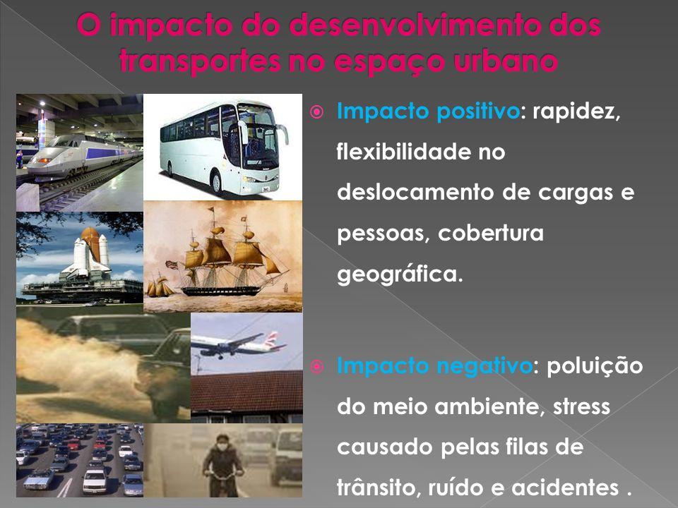 O impacto do desenvolvimento dos transportes no espaço urbano