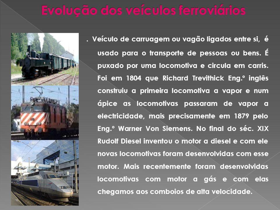 Evolução dos veículos ferroviários