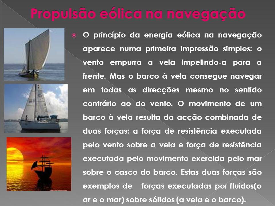 Propulsão eólica na navegação