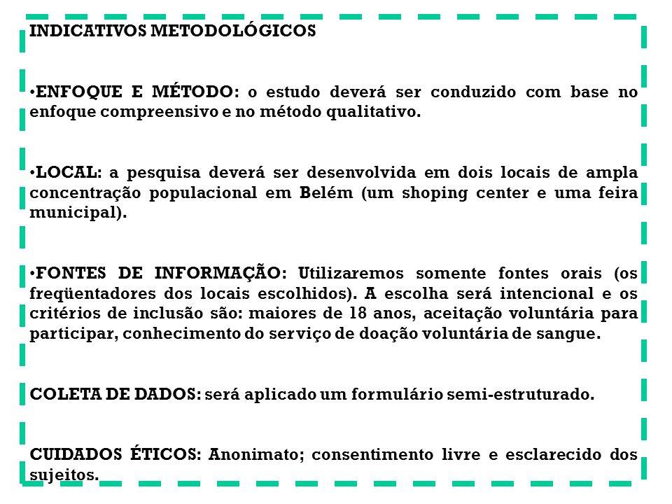 INDICATIVOS METODOLÓGICOS
