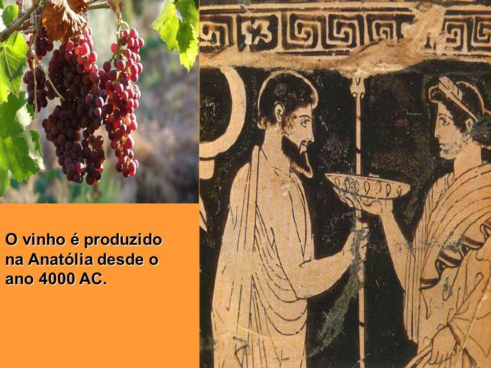 O vinho é produzido na Anatólia desde o ano 4000 AC.