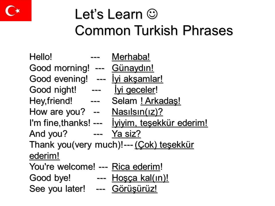 Let's Learn  Common Turkish Phrases