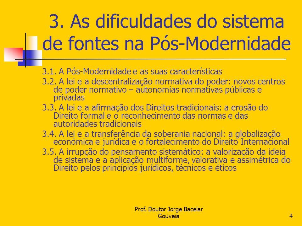 3. As dificuldades do sistema de fontes na Pós-Modernidade