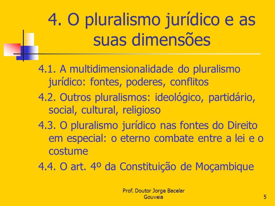 4. O pluralismo jurídico e as suas dimensões