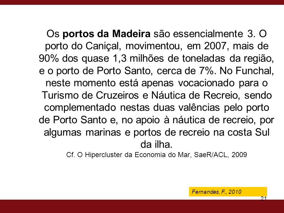 Os portos da Madeira são essencialmente 3