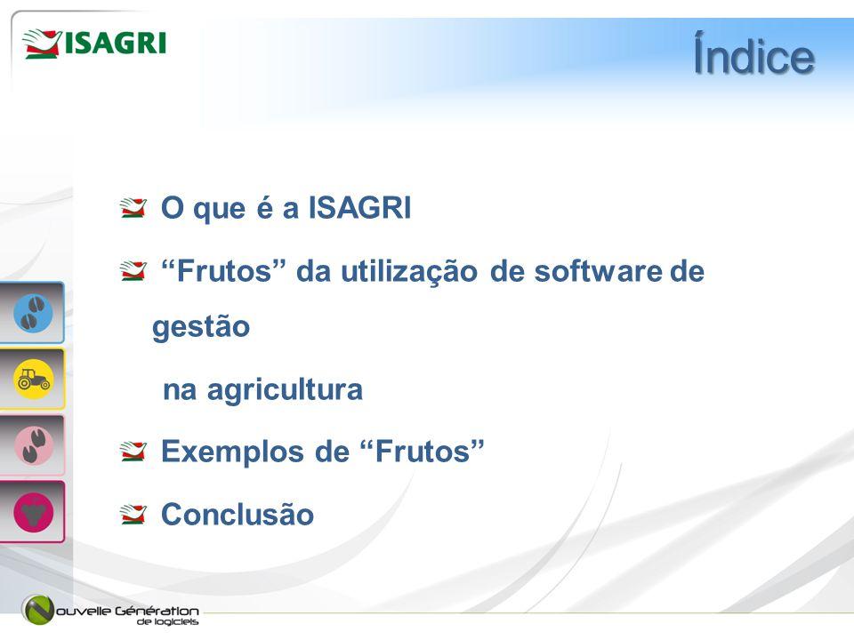 Índice O que é a ISAGRI Frutos da utilização de software de gestão
