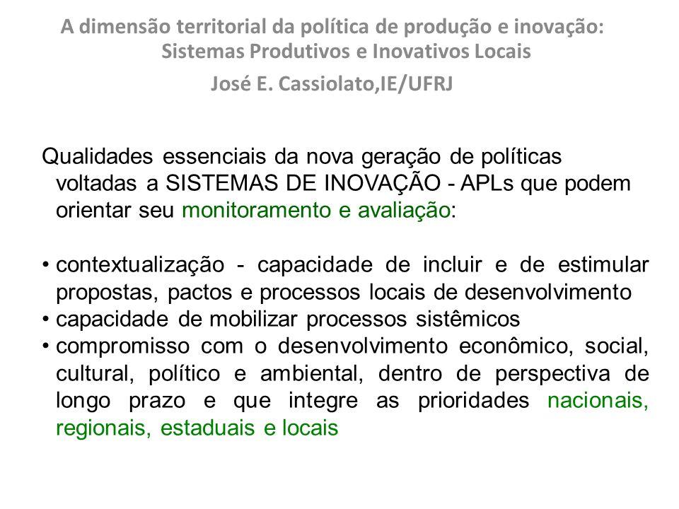 José E. Cassiolato,IE/UFRJ