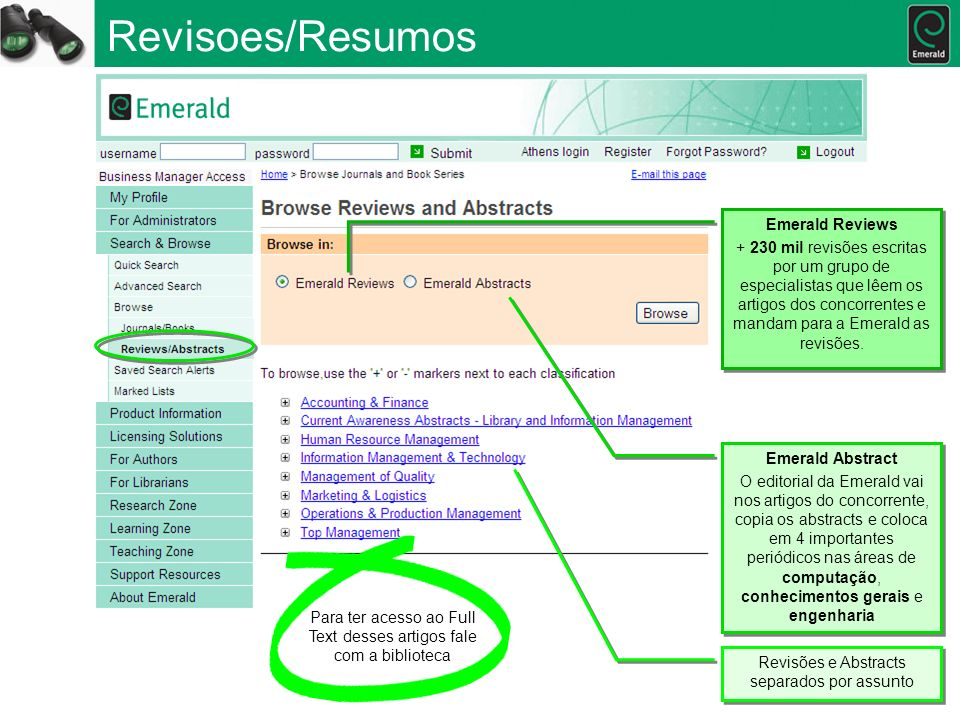 Revisoes/Resumos Emerald Reviews
