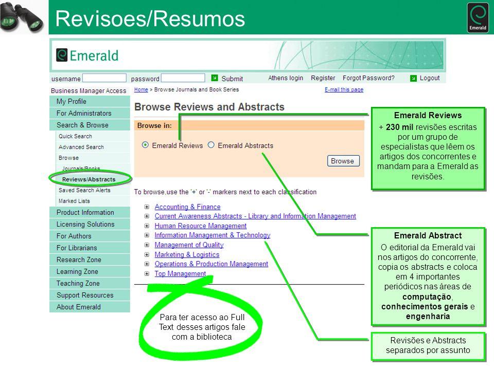 Revisoes/Resumos Emerald Reviews