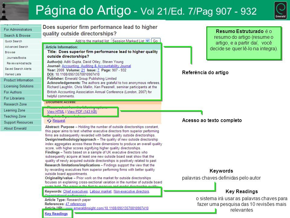 Página do Artigo - Vol 21/Ed. 7/Pag 907 - 932