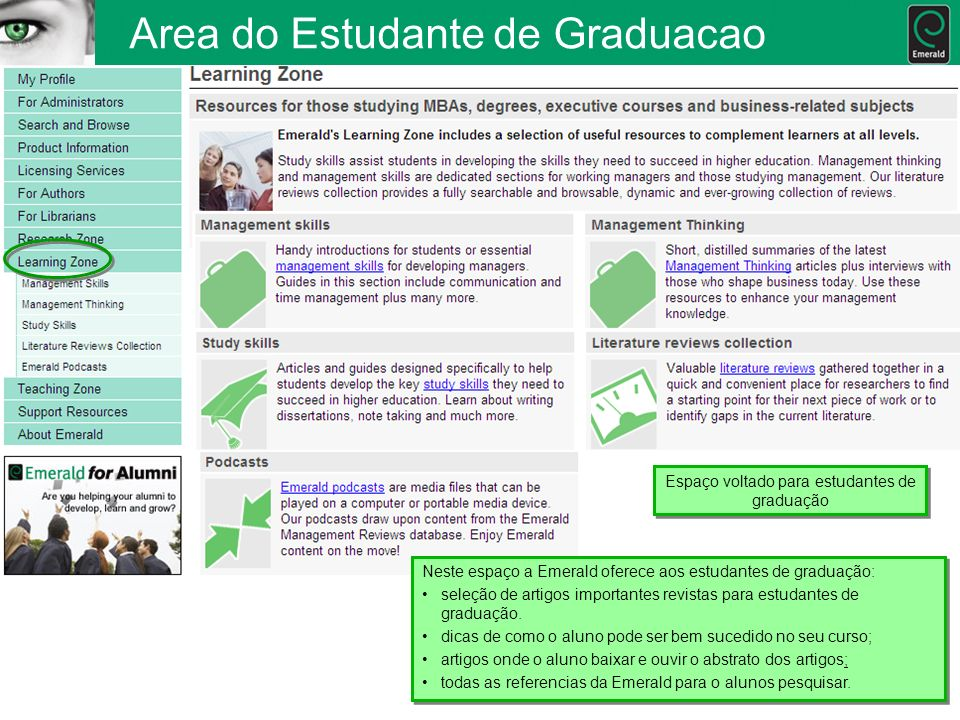 Area do Estudante de Graduacao